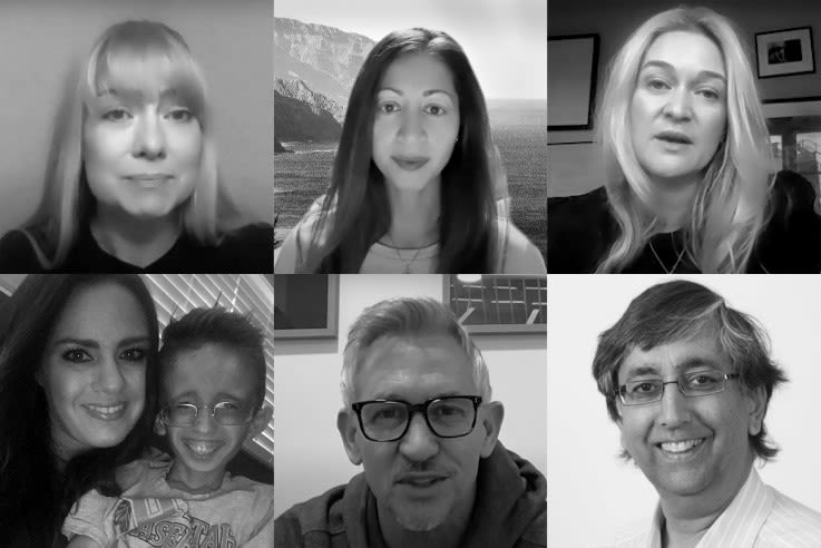 Montage of Rare Disease Day contributors: Baroness Nicola Blackwood (Chair Genomics England), Bina Shah (Founder Project 8p), Emily Crossley (CEO, Duchenne UK), Rose and Zeryk Hacking (rare disease family), Gary Lineker OBE (OHCC Ambassador) and Prof. Chas Bountra.