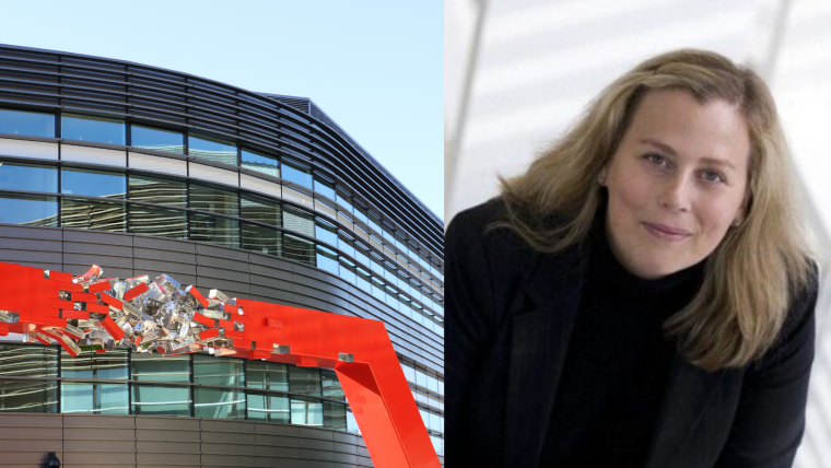Photos of the Big Data Institute building and Cecilia Lindgren the BDI director.