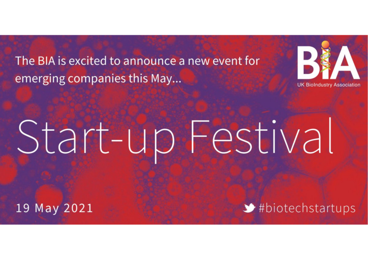 Flyer for the BIA Start-Up Festival.