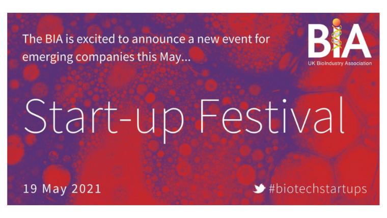 Flyer for the BIA Start-Up Festival.