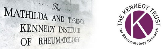 Original sign of the Mathilda and Terence Kennedy Institute of Rheumatology