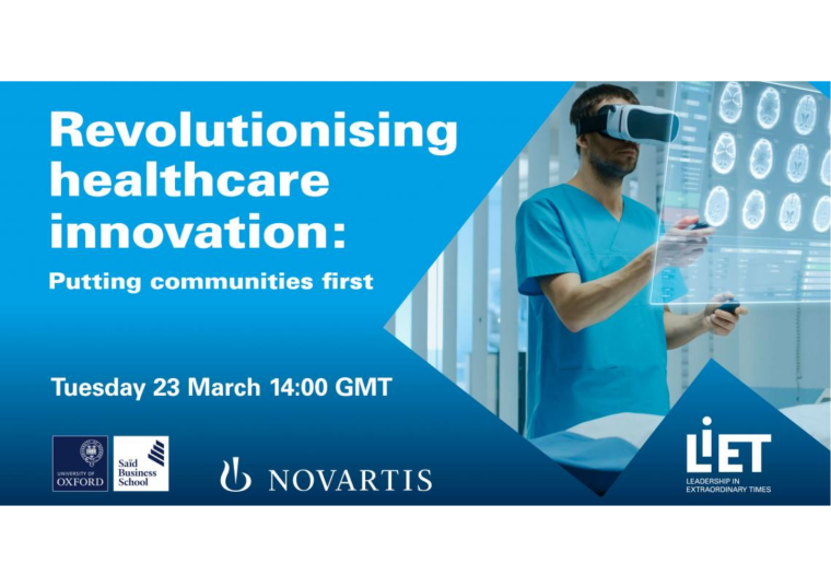 Flyer for Revolutionising healthcare innovation: Putting communities first.
