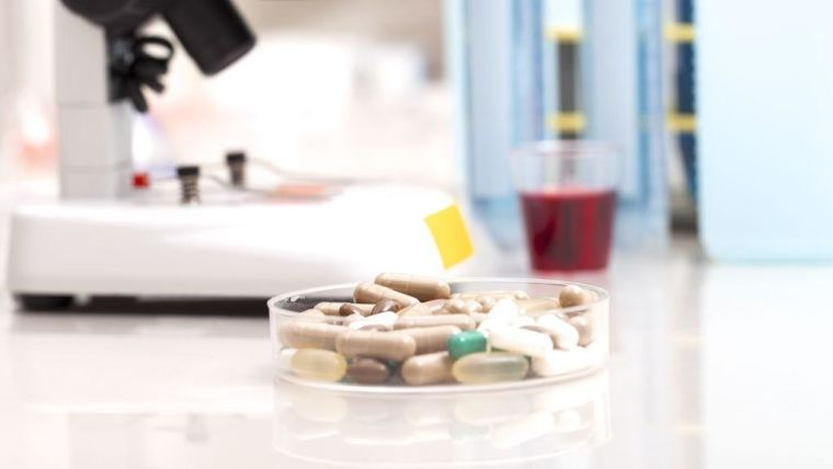 Medication tablets in a dish