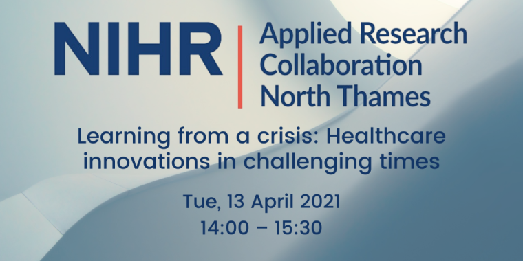 Flyer for NIHR Learning from a crisis: How to embed healthcare innovations in challenging times
