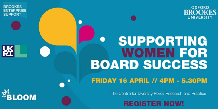 Flyer for Supporting Women for Board Success