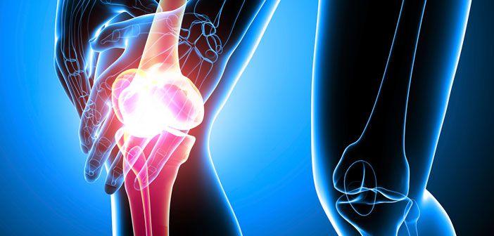 Painful Knee Illustration. 3D render