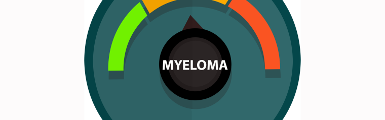Dial from green to red, with pointer that says Myeloma