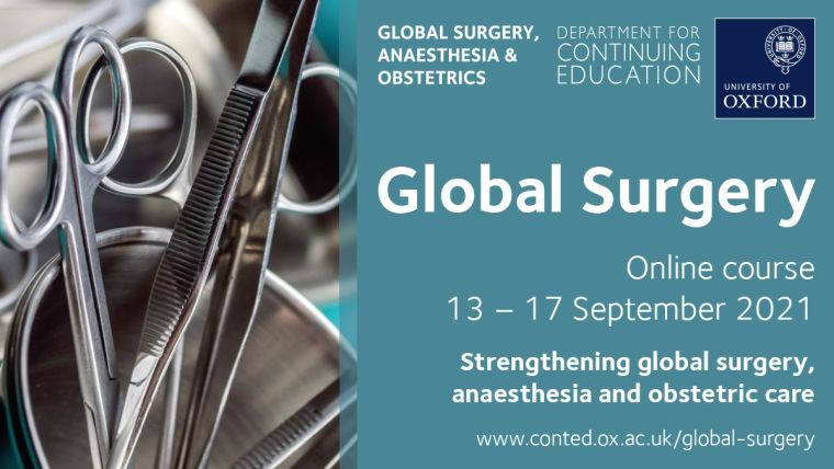 An accredited online course in global surgery, anaesthesia, and obstetrics and gynaecology.