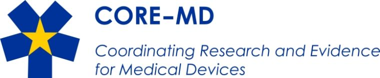 Coordinating Research and Evidence for Medical Devices (CORE-MD) logo