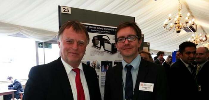 Andrew Smith, MP for Oxford East, with Dr Stephen Hicks at the exhibition
