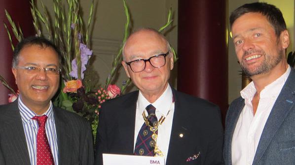 Jaideep Pandit, BMA President Sir Al Aynsley-Green, and Tim Cook