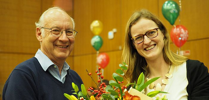 Heidi Johansen-Berg with Chris Kennard, Head of Department