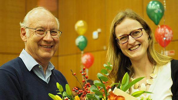 Heidi Johansen-Berg with Chris Kennard, Head of Department