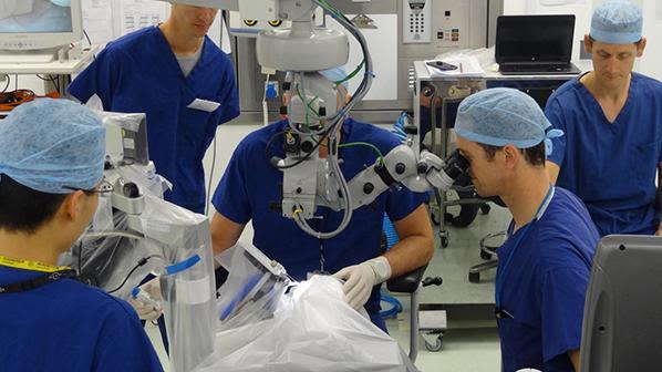 First human test of robotic eye surgery a success
