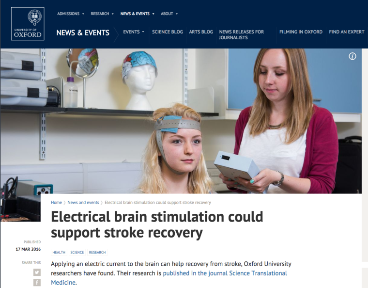 Electrical brain stimulation could support stroke recovery