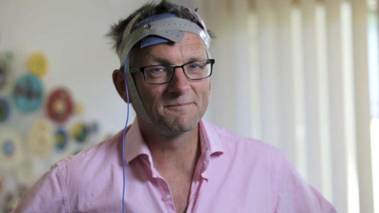 Dr Michael Mosley (Trust Me I'm A Doctor - BBC Two) tries tDCS