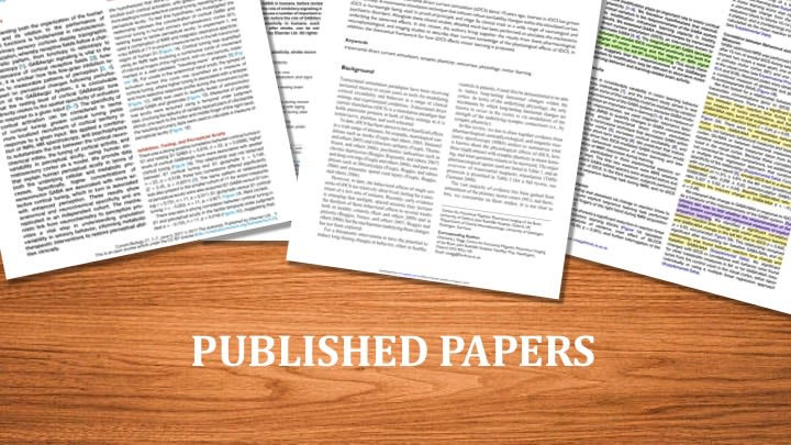 Publishedpapers