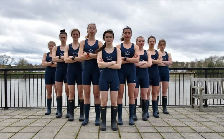 Group of rowers