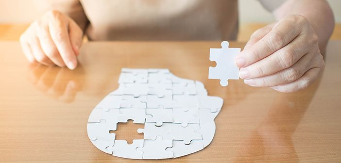 Jigsaw puzzle of a brain with a missing piece