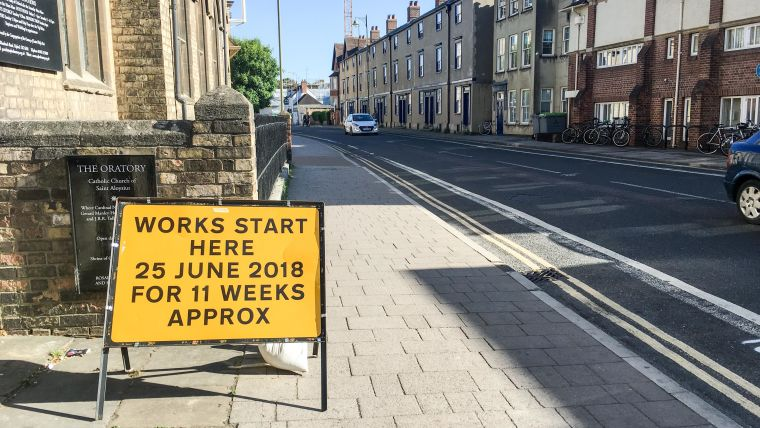 Woodstock road improvement works 2