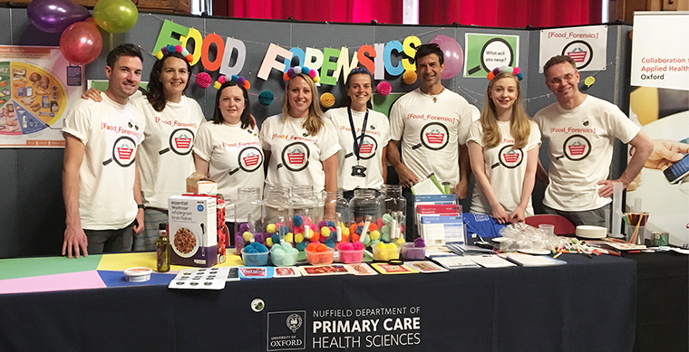 Department members deliver a suite of colourful hands-on activities for Oxfordshire Science Festival to uncover some of the hidden truths behind food.