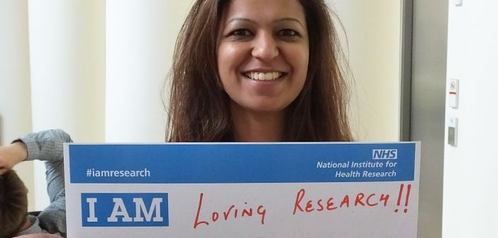 For International Clinical Trials Day 2017, staff and students take part in the NIHR's #IAmResearch campaign