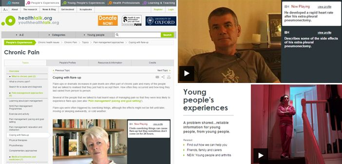 Healthtalk.org features people's experiences of over 85 separate health conditions, and includes sections for young people and health professionals.