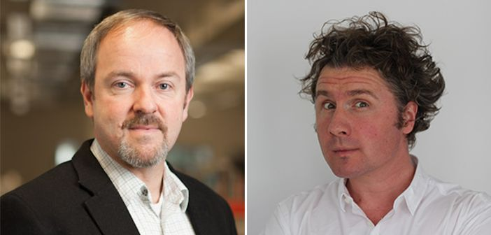Pictured left to right: Professor Carl Heneghan and Dr Ben Goldacre