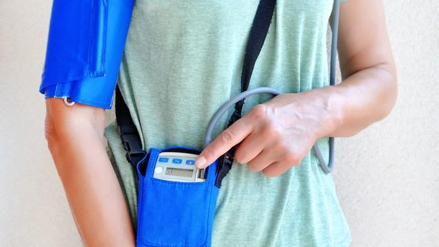 An ambulatory blood pressure monitor
