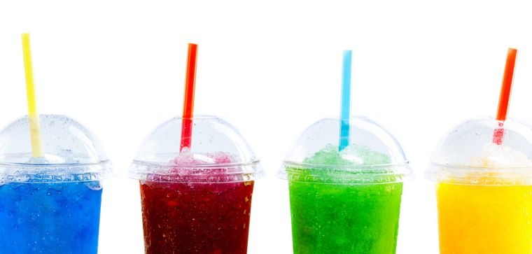 4 glasses of soft drink