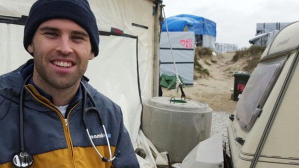 DPhil student Jack O'Sullivan spent the Easter break providing first aid care to the 6000 refugees of Calais, France.