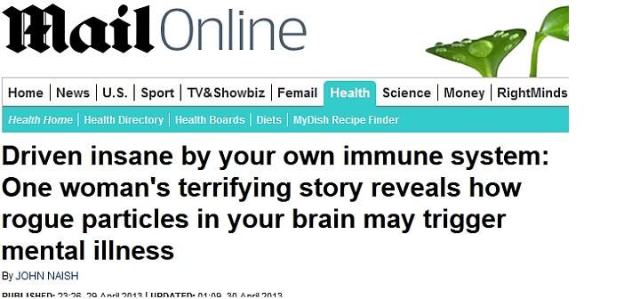 Autoimmune causes of schizophrenia