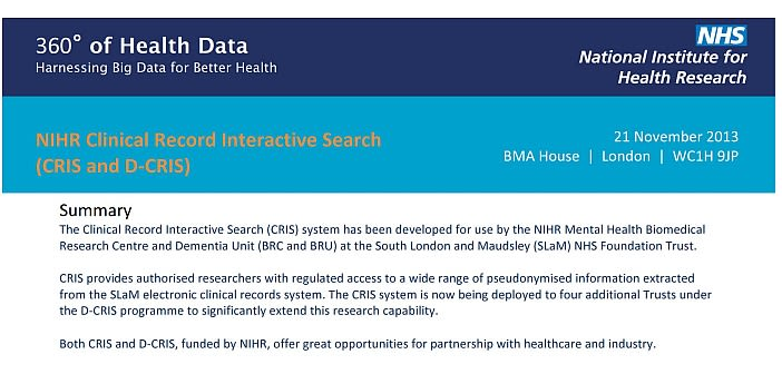 The clinical record interactive search system is coming to oxford