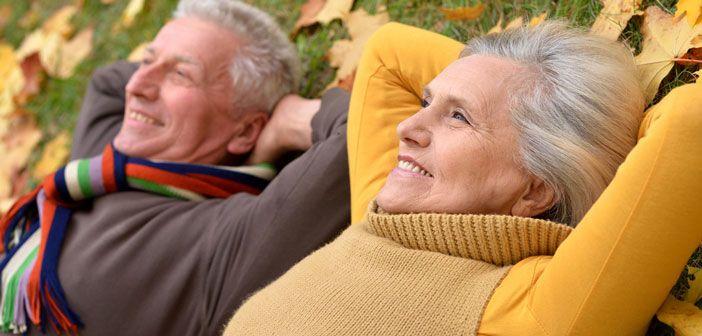 Healthy older couple