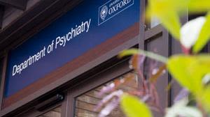 Entrance to the Department of Psychiatry building