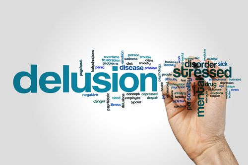 Word cloud for delusion