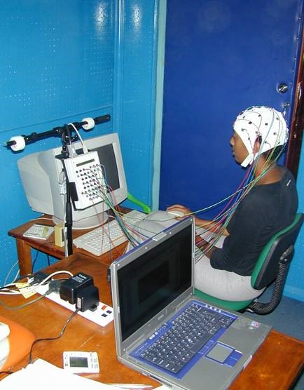 EEG being used with child with epilepsy in Kenya