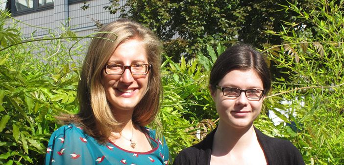 Calgary students Aileen Naef (left) and Michelle Vogelaar (right)