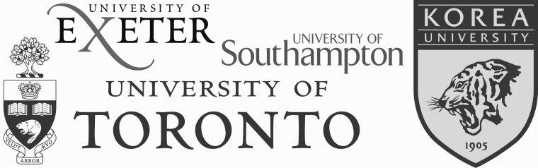 Logos of collaborating universities.