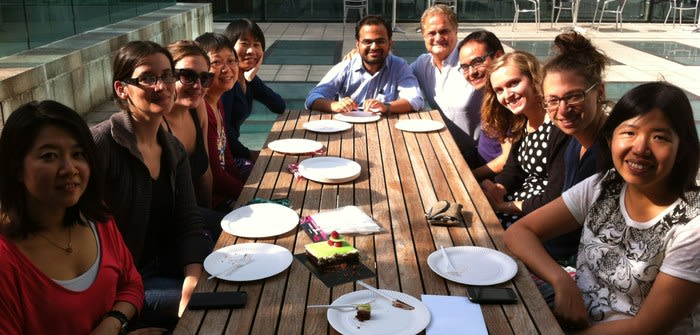 Dr Amanda Cheung's leaving cake on 20th August 2013