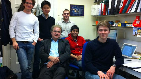 Miklos, Kevin, Jack, Rohan and Ain - The 2011-2012 cohort of FHS project students in the Molnár Laboratory