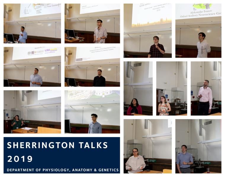 Sherrington talks 2019 speakers