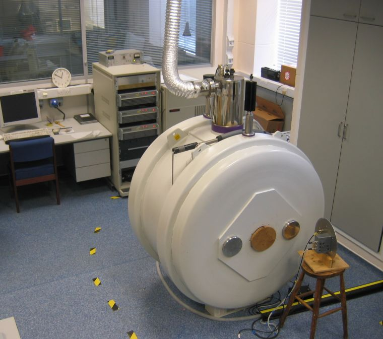 The bore system is a large white circular machine