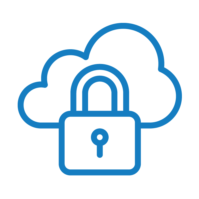 Icon of a cloud and padlock