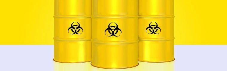 Three hazardous containers