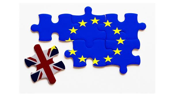 Illustration representing UK leaving the EU (Brexit)