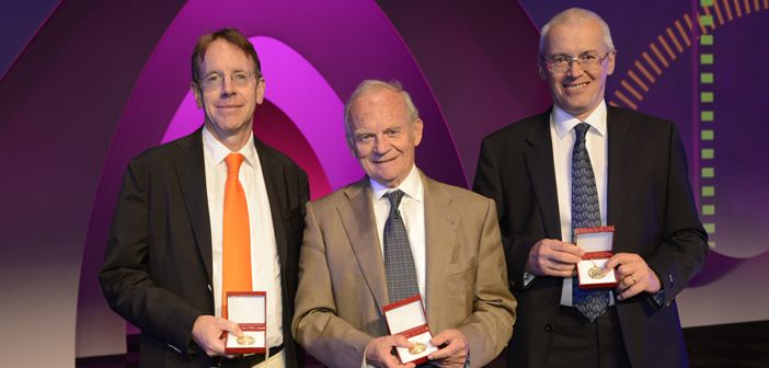 This year's three ESC Gold Medallists: Left to right:  Professor Sir Rory Collins, Professor Alain Carpentier and Professor Petr Widimsky
