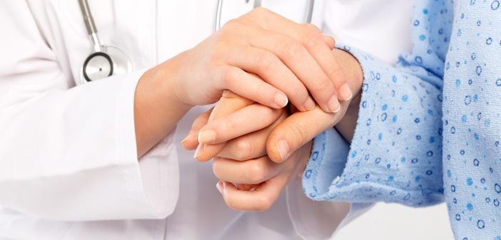 Dr and patient hands