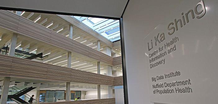 The atrium of the Big Data Institute building.