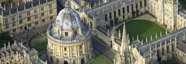 Ariel view of Oxford